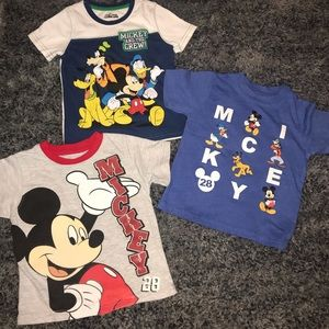 Boys Size 2T Mickey Mouse tee shirts.
